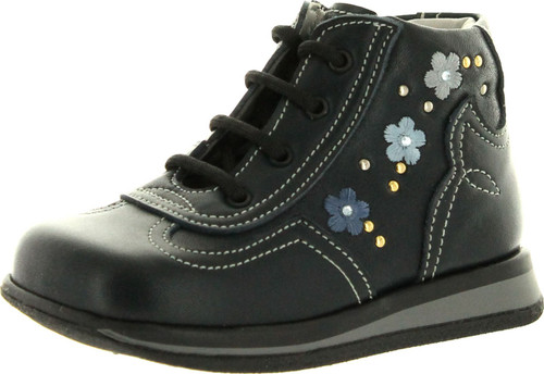 Iacovelli Girls 4101 First Walker Italian Lace Up Booties