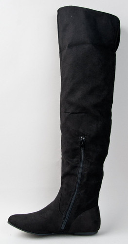Qupid Proud-09 Cuff Over The Knee Thigh High Or Knee High Slouchy Flat Boot