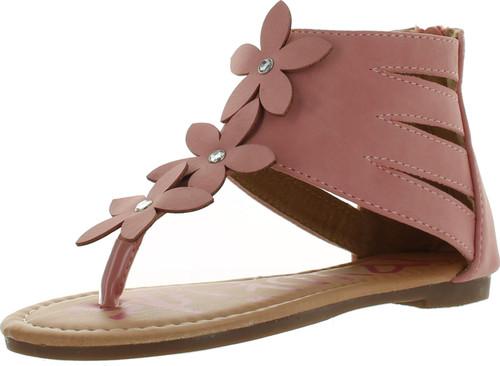 Yokids Daphne-23 Little Girls Flat Sandals With Flowers