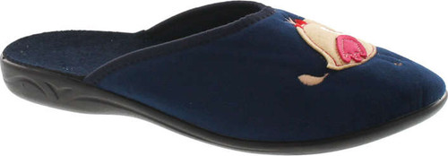 Sc Home Collection Womens 157 Birdie Closed Toe Low Wedge Plush House Slippers Made In Europe