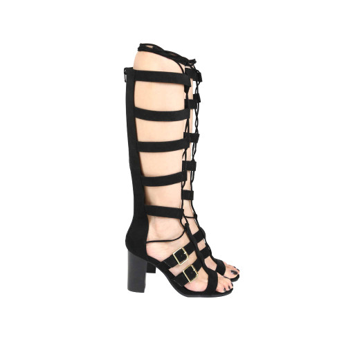 Qupid Womens Lucite-04A Fashion Gladiator High Heel Sandals