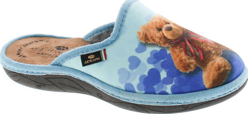Sc Home Collection Womens 18017 Heart Teddy Cozy House Slippers Made In Europe