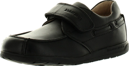 Biomecanics Boys Leather Single Strap Moccasin Dress Casual Shoes