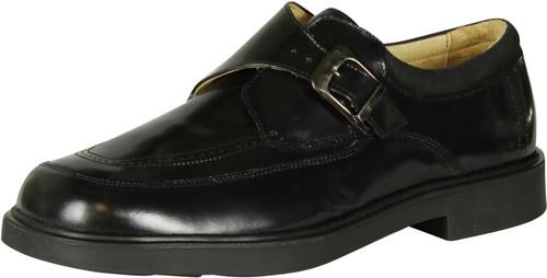 A&S Older Boys Shiny Dress Shoe Runs Small Size Up 1 Size.
