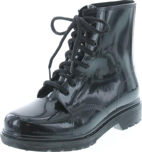 Air Balance Womens Lace Up Mid Combat Rain Boots