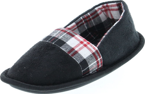 Static Footwear Kids Plaid Slip On Warm House Slippers