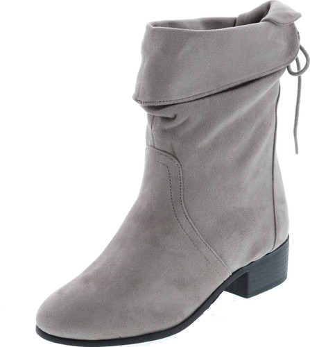 Soda Women's Slouchy Boot Round Toe Faux Suede