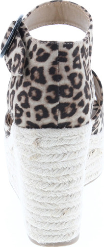 Soda Fabia Women's Open Toe Anke Strap Espadrille Wedge Sandal