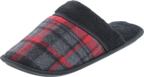 Static Footwear Mens Plaid Flannel Slippers