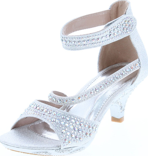 Bella Marie Girls Zoey-2K Fashion Dress Heel Sandals