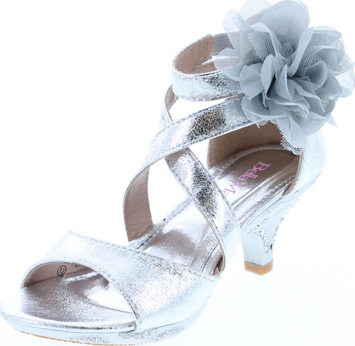 Bella Marie Girls Vamo-2K Fashion Heel Dress Sandals