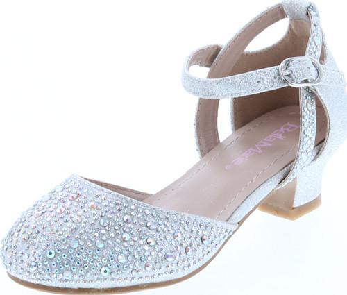 Bella Marie Girls Hunts-11K Low Heel Dress Party Sandals