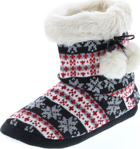 Sc Home Collection Womens Knit Fashion House Slippers