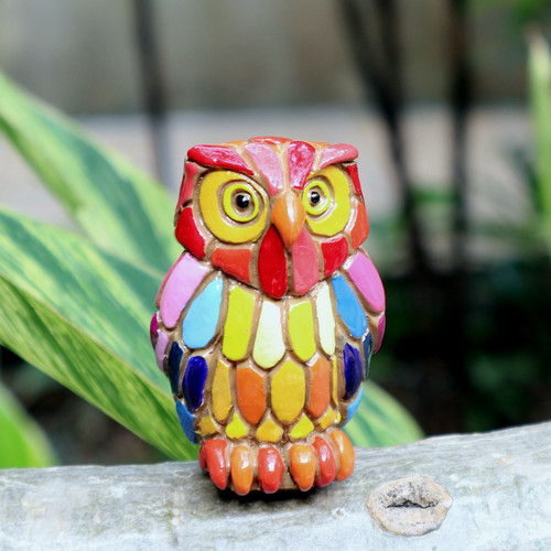 Colorful Funny Owl (68190)