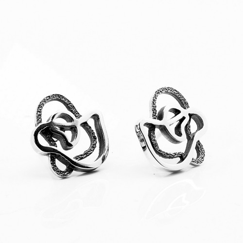 Black Silver Xispa Earrings (1144051XP)
