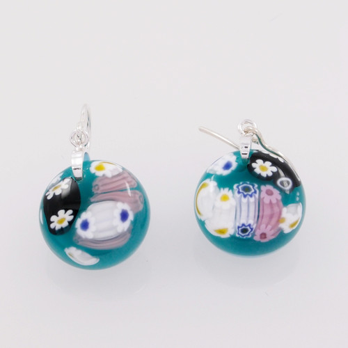 Spanish Glass Dangling Earrings MM01