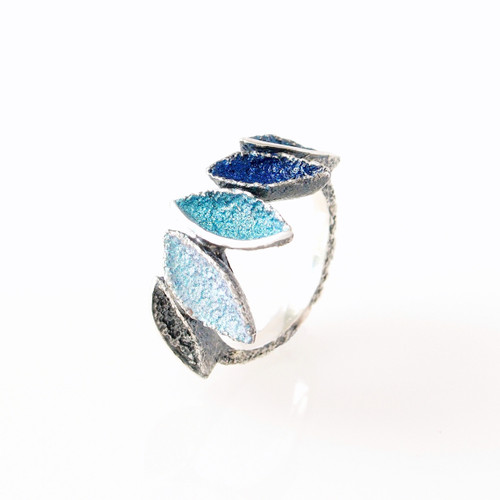 Mystic Blue Crown Ring (1182489XPU)