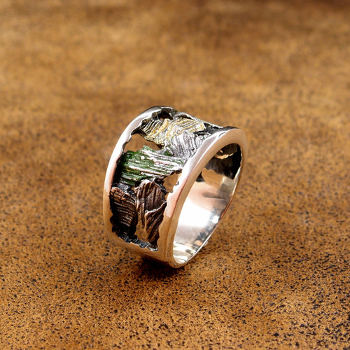 Greenish Yellow Fragments Ring (1182189XPU)