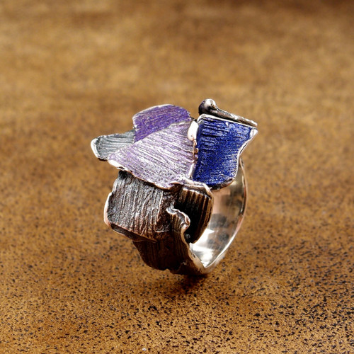 Violet Splash Fragments Ring (1182166XPU)