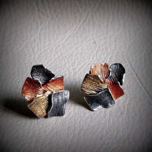Copper Flowers Fragment Earrings (1143155XPP)
