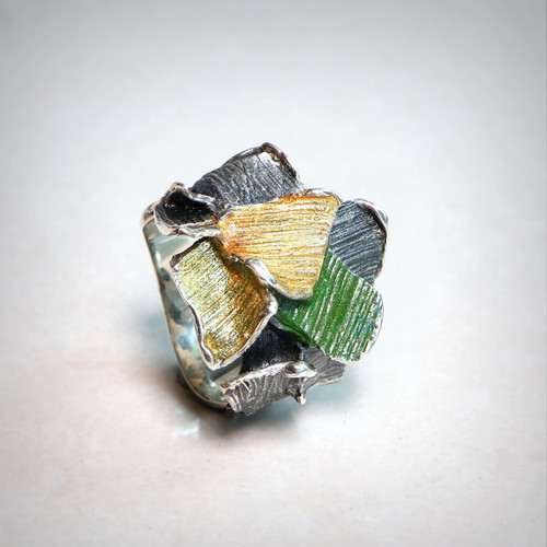 Green Splash Fragments Ring (1182167XPU)