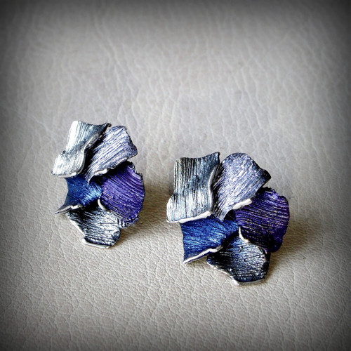 Violet Flowers Fragment Earrings (1143152XPP)