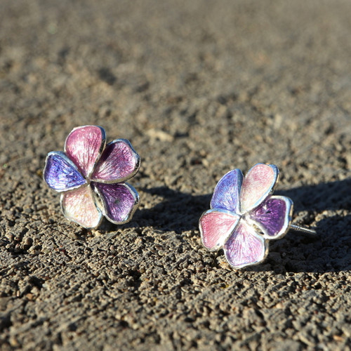 Lilac Flowers Earrings (1142863EPP)