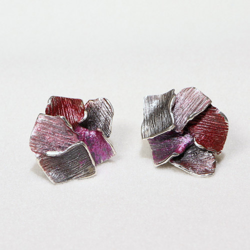 Ruby Flowers Fragment Earrings (1143154XPP)