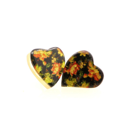 Flower Heart Earrings (VTI1-0219)