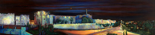 Jaffa Gate Panorama - Original, by Geula Twersky