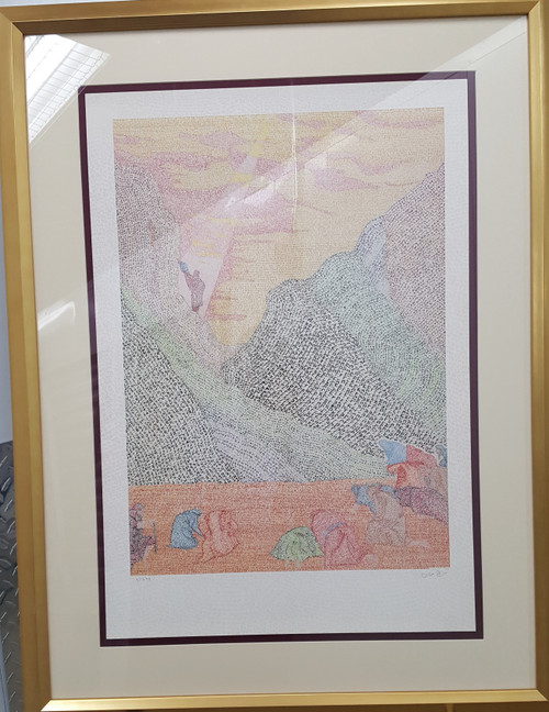 Ten Commandments framed Limited Edition by Menachem Boas