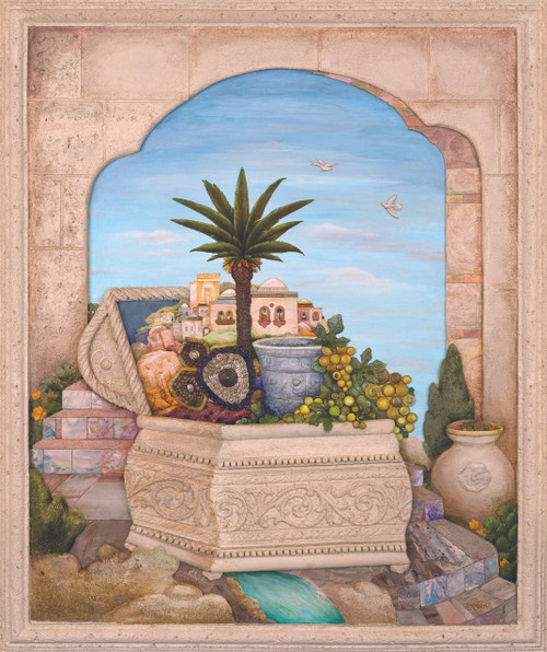 Treasure Chest with Palm Original by Michoel Muchnik