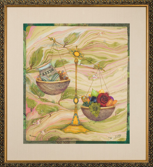 Fruits of Israel Original  framed by Michoel Muchnik