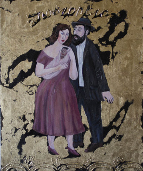 Couple with Baby Original  by Alexander Khomsky
