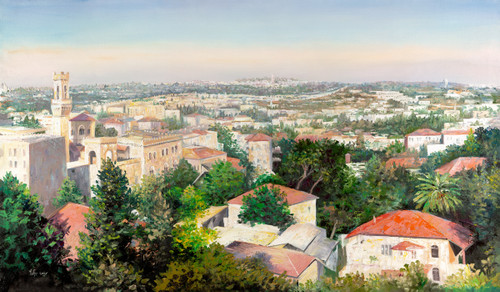 View of Jerusalem Giclee by Menucha Yanlelevich
