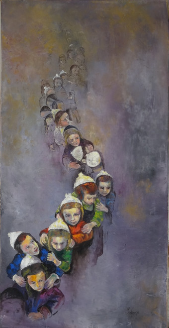Jerusalem Kids Giclee by Menucha Yankelevitch