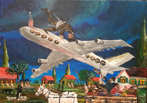Flying to the Rebbe Original by Yehiel Offner
