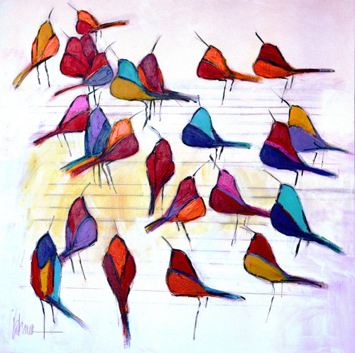 Birds of Color Original by Johanan Herson