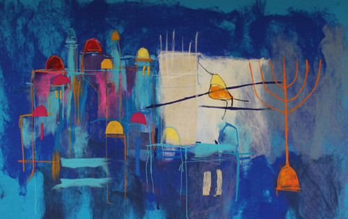 Blue Jerusalem Soft Art by Johanan Herson