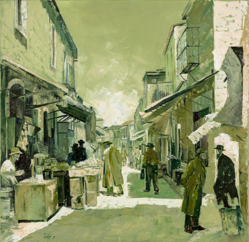 The Shuk at Mea Shearim Original by Menucah Yankelevitch