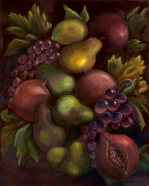 Old World Fruit Giclee  by Shoshana Rothberg