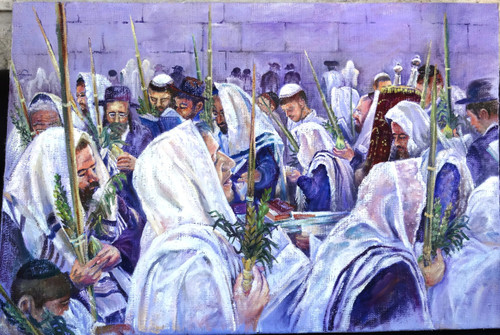 Hakofot at the Kotel Original by Menucha Yankelevitch