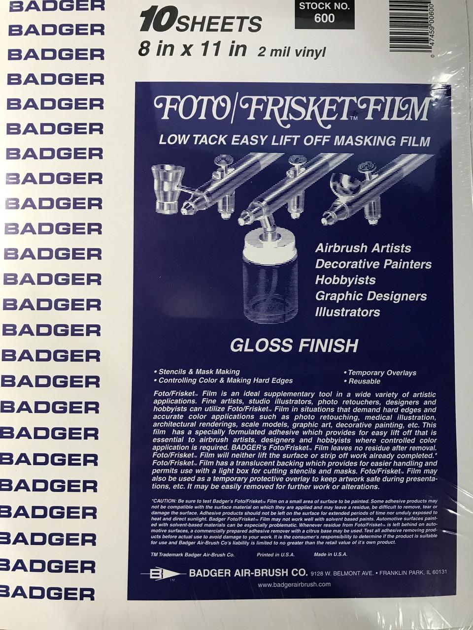 Badger Foto/Frisket film Gloss finish