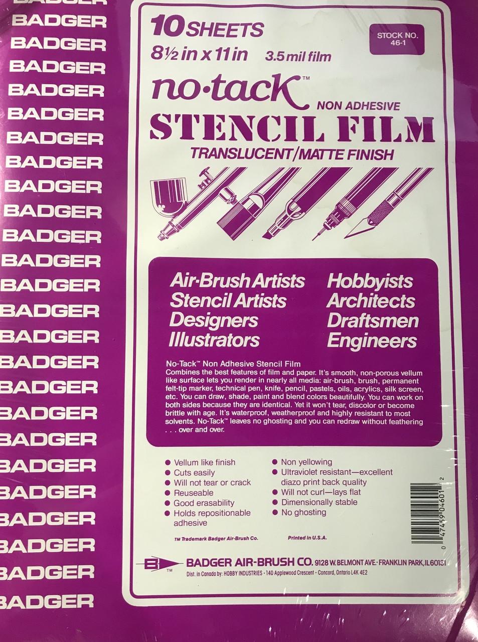 Badger NO-TACKª (NON-ADHESIVE) STENCIL FILM