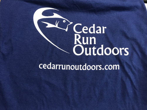 Cedar Run Outdoors logo short sleeve T-shirt Metro blue