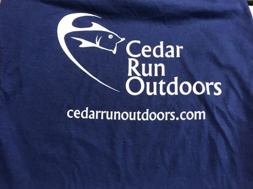 Cedar Run Outdoors logo short sleeve T-shirt Metro blue