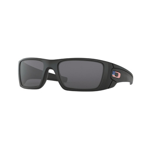 Oakley SI Fuel Cell Matte Black Grey US Flag Icon