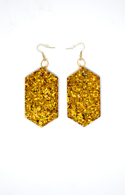 Gold Diamonds | Handmade Glitter Earrings