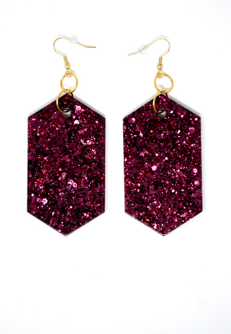 Garnet Diamonds | Handmade Glitter Earrings