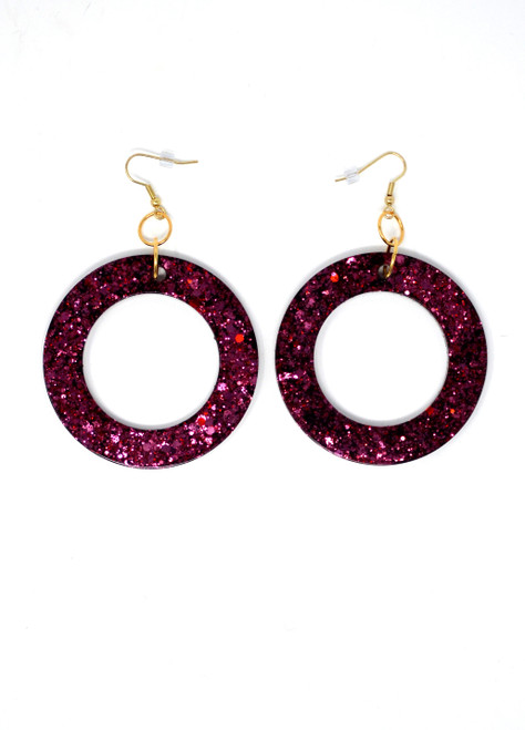 Garnet Donuts | Handmade Glitter Earrings